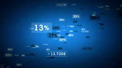 Percentages And Values Blue Rising - stock footage