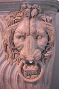 Lion Historical Bust Sculpture - stock photo