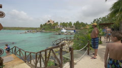 Amazing view of the Xel-Ha Park in Cancun Stock Footage