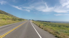 Driving Cabrillo Highway US 1 Stock Footage