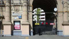 Krasnoprudnaya street, view from moving bus. Stock Footage