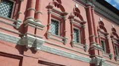 Windows of Vysokopetrovsky Orthodox monastery. Stock Footage