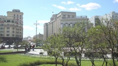 Teatralnaya Square and the building of the State Duma Stock Footage