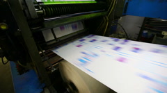 print shop typography machine work with cmyk - stock footage