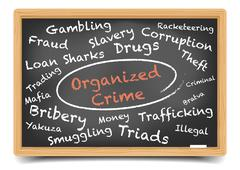 Organized Crime Wordcloud Stock Illustration