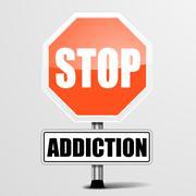 Stop Addiction - stock illustration