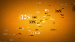 Percentages And Values Yellow Rising - stock footage