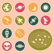astronomy icon - stock illustration