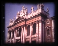St Peters Square Vatican Vintage Footage - stock footage
