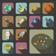 Stock Illustration of flat astronomy icon