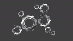 Moving gears mechanism video animation Stock Footage