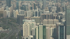 Skyline and business district in Abu Dhabi Stock Footage