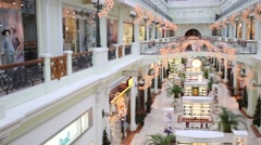 Petrovsky Passage - modern shopping complex. Stock Footage
