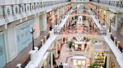 Petrovsky Passage one of best shopping complexes of Russia capital Stock Footage