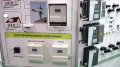 Automated system for power metering and load control scheme stand Stock Footage