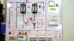 Working model of DC board by Plant Convertor Stock Footage