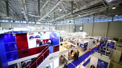 Exhibition Electrical Networks of Russia - 2013 in exhibition center Stock Footage