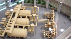 Model of reconstruction project of electrical substation Stock Footage