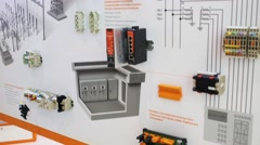 Weidmuller company stand at exhibition Electrical Networks Stock Footage