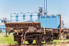 Freight wagon rail - stock photo