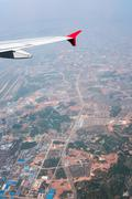 Bird eye view of a city in China - stock photo