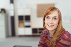 Optimistic Office Woman Looking at the Camera Stock Photos