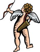 Cupid Clip Art - stock illustration