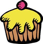 Cupcake Clip Art - stock illustration