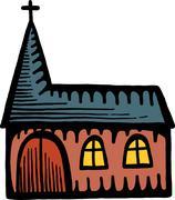 Old Church - stock illustration