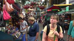 People visit, Petaling Street, Chinatown, Kuala Lumpur, Malaysia Stock Footage