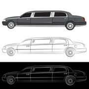 Luxury Limo Car Icon Piirros