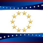 Patriotic Star Background Icon - stock illustration