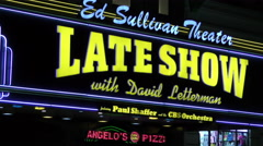David Letterman's theater in new York City 4K Stock Footage