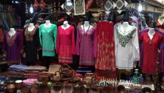 Dresses for sale at Central Market, Kuala Lumpur, Malaysia Stock Footage