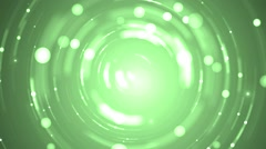 Abstract green background with stars. - stock footage