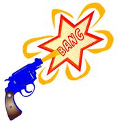 Comic Gun Bang - stock illustration