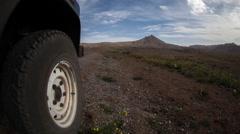 Anti atlas 4x4 offroad wheel mountain nature morocco landscape Stock Footage
