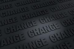 Dark Background of Change - stock illustration