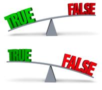 Weighing True Or False Set Stock Illustration
