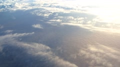 Clouds from the airplane - stock footage