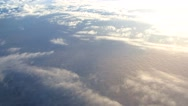 Stock Video Footage of Clouds from the airplane