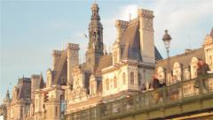 Paris - Seine River Stock Footage