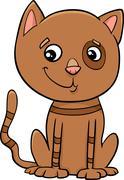 Cat kitten cartoon illustration Piirros