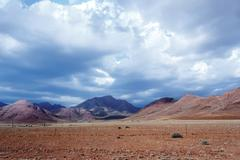 Panorama of fantastic Namibia moonscape landscape Stock Photos