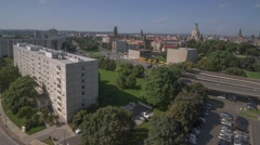 Stock Video Footage of Panoramic Timelapse Pan Over Dresden in Germany