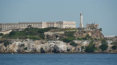 Close up from Alcatraz Island in San francisco Stock Footage