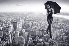 Woman on top Stock Photos
