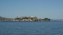 Alcatraz Island in San francisco - stock footage