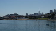 Stock Video Footage of Aquatic Park and the San Francisco skyline