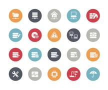 Network and Server Icons // Classics Series Stock Illustration